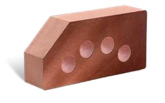Кирпич литос гладкий угловой