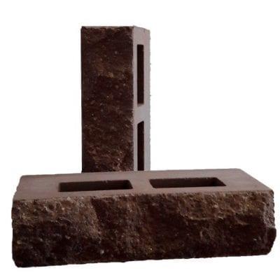 Кирпич Скала Рубелэко пустотелый колотый Шоколад