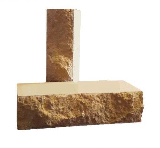 Кирпич полнотелый скала рубелэко желтый