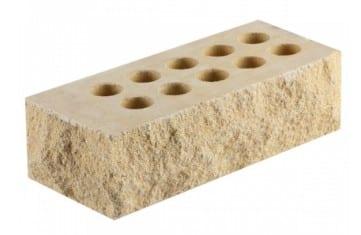 Литос кирпич скала тычок Слоновая кость 230х100х65