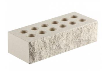 Кирпич литос тычок скала Белый 230х100х65