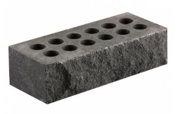 Тычок скала кирпич литос серый 230х100х65