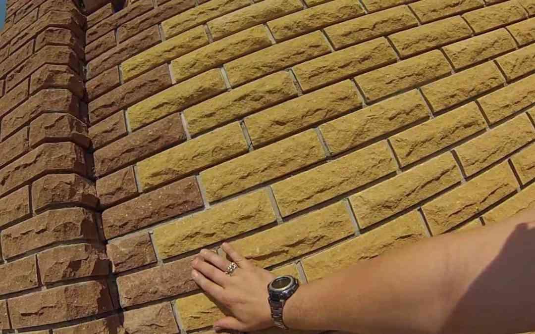 Кирпич литос скала как строительный материал для заборов.