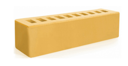 Керамический брусок Евротон желтый 250х65х65
