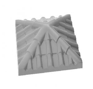 Крышка на кирпичный столб под черепицу Серая