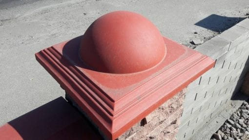(Цветная) Крышка на забор Рим 450*450*180