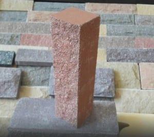 ( Персик ) Узкий кирпич Land brick Колотый 250х60х65