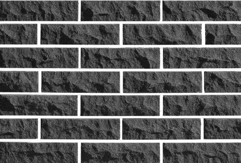 Рваный кирпич ( Черный ) скала Евроцегла