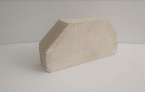 ( Желтый ) 2-х угловой облицовочный кирпич гладкий Лэнд брик