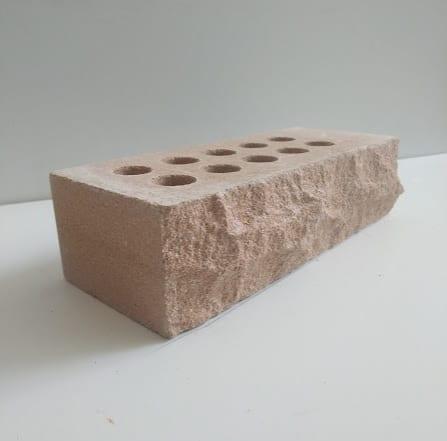 ( Персиковый ) Кирпич облицовочный скала Land brick 250х100х65