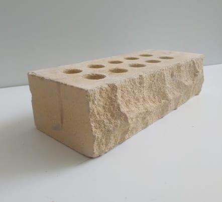 ( Слоновая кость ) Кирпич пустотелый Лэнд Брик рваный 250х100х65