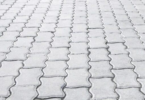 Тротуарная плитка Волна белый