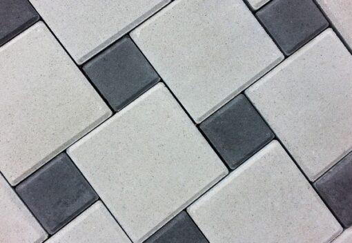 Тротуарная плитка Квадрат белый