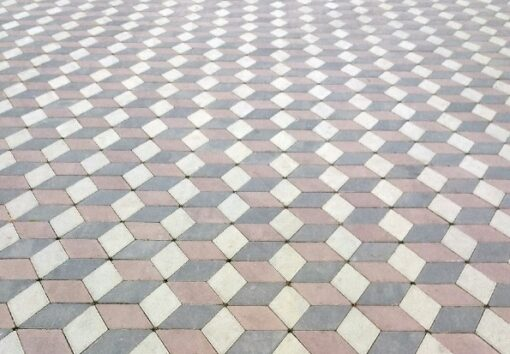 Тротуарная плитка Ромб белый
