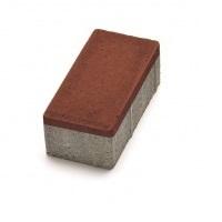 Тротуарная плитка кирпич красный