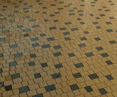 Тротуарная плитка креатив желтый