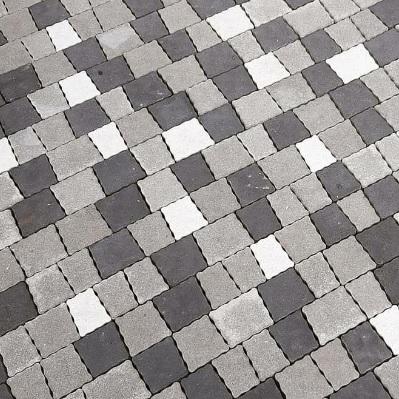 Тротуарная плитка креатив белый