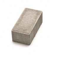 Тротуарная плитка кирпич серый